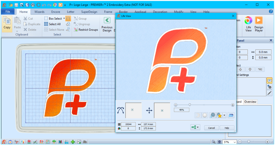 PREMIER+™ 2 Common Features - PREMIER+™ 2 Embroidery System